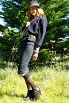 vintage blazer - vintage Romeo Gigli skirt - Jeffery Campbell shoes - Billabong