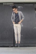 bench cardigan - polka dots Oxygen shirt - beige chinos SM pants