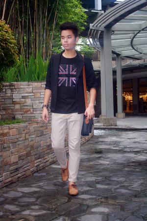 brown brogues GH shoes - black blazer Oxygen blazer - mogao shirt