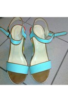 turquoise blue next shoes