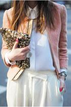 Zara blouse - YSL bag - Guess accessories