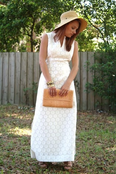 crochet maxi Vintage Gregg Draddy dress