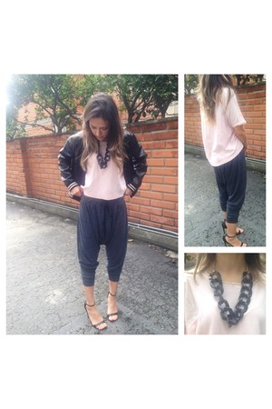 plastic necklace - baseball jacket Forever 21 jacket