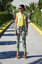 Think White blouse - Think White pants - Aslanis sandals