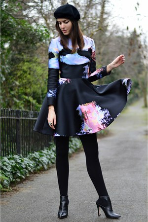 Zara shoes - Mary Katrantzou dress - asos hat