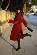 Makis Tselios coat - Steve Madden boots