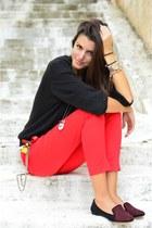Ralph Lauren sweater - cropped asos pants - slipper Zara flats