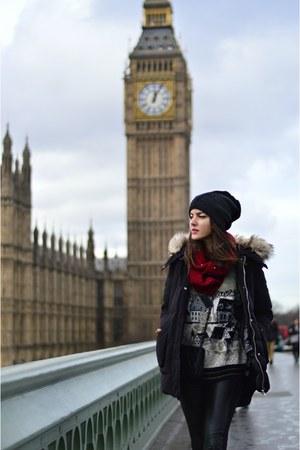 Boohoo hat - Zara jacket - asos scarf