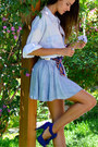 Light-blue-boyfriend-h-m-shirt-light-blue-skater-h-m-skirt