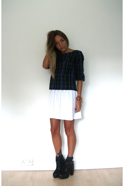 tartan frontrowshopcom top - chunky Urban Outfitters boots