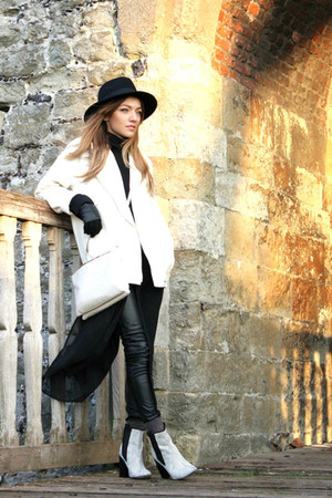 black longline sheer Glamorous shirt - off white asos boots