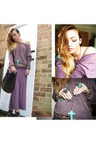 puce oversized Topshop sweater - puce maxi dress Topshop dress