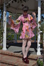 Vintage-dress-velvet-jeffrey-campbell-heels