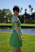 mod mini floral vintage dress
