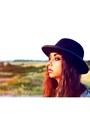 Vintage-hat-river-island-boots-vintage-dress-studded-miss-selfridge-jacket