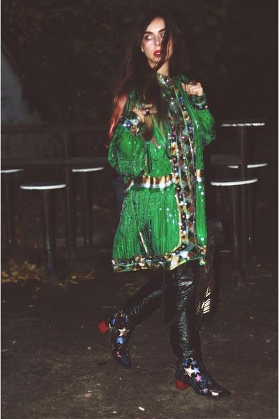 sequin vintage jacket - star boots Tommy Hilfiger boots