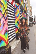 Jeffrey Campbell shoes - vintage hat - patchwork vintage jacket
