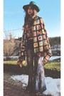 Patchwork-jeffrey-campbell-boots-vintage-hat-vintage-shirt