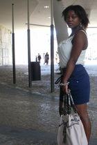 B Design purse - Stradivarius skirt - Mango blouse - Claires bracelet