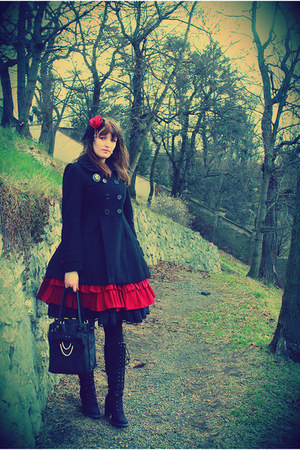 black Amisu coat - ruby red by daneille handmade dress