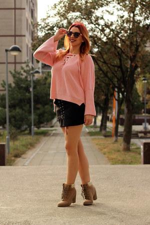 AmiClubWear boots - AmiClubWear sweater - AmiClubWear skirt