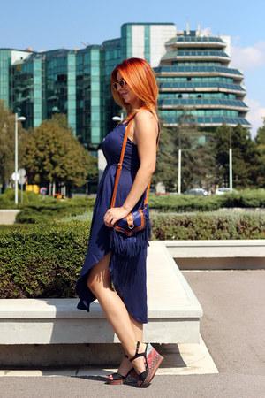 Newchic dress - AmiClubWear bag - AmiClubWear wedges