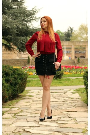 AmiClubWear skirt - shein blouse - AmiClubWear heels