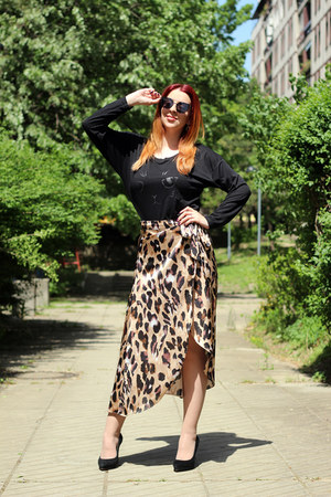 shein skirt - dresslily glasses