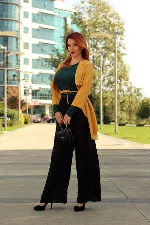 dresslily bag - shein cape - shein pants