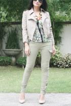 blazer - shoes - top - pants