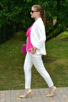 H&M blazer - H&M bag - Orsay pants - asos watch - topankysk heels