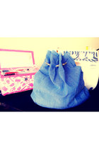 sky blue diy denim bag