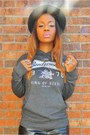 Black-hat-bag-gray-hooded-budweiser-sweatshirt-camel-faux-suede-wedges