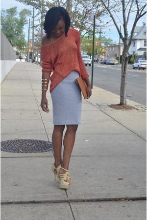 Forever 21 skirt - Steve Madden bag - Shoedazzle heels