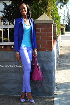 Forever 21 jeans - H&M blazer - olivia & joy purse - BCBG pumps