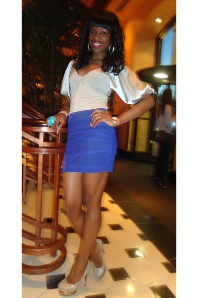 Bebe shirt - Charlotte Russe skirt - gianmarco lorenzi pumps