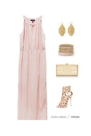 light pink baby pink maxi VeryJ dress