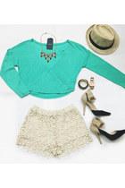 crochet VeryJ shorts - VeryJ top