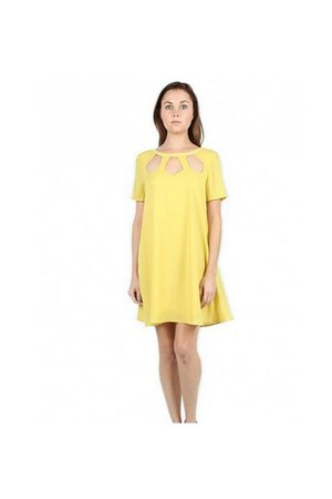 yellow dress very J dress