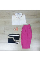 collared very J shirt - track hot pink very J pants