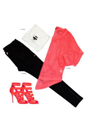 coral VeryJ sweater - black black cargo VeryJ pants