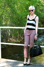 Black-quilted-kate-spade-bag-dark-brown-clubmaster-ray-ban-sunglasses