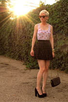 Steve Madden shoes - Karen Walker sunglasses - free people skirt