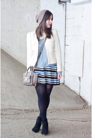 blue stripes Forever 21 skirt - light blue rag & bone sweater