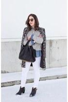 white white jeans H&M jeans - black Composure Vintage boots