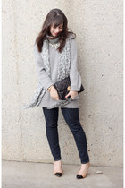 wilfred scarf - Gap jeans - Zara sweater - Michael Kors bag - Zara pumps