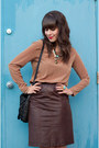 Black-aldo-boots-brown-faux-leather-oak-fort-dress