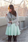 Mint-pastel-h-m-dress-white-stripes-h-m-blazer