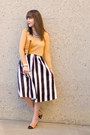Nude-vintage-ysl-bag-nude-cap-toe-zara-pumps-white-stripes-asos-skirt