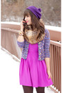 Tan-forever-21-boots-amethyst-forever-21-dress-purple-h-m-hat